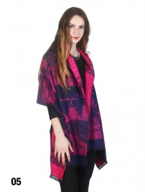 Trendy Paris Print Scarf/Cape