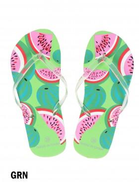 Watermelon Print Flip Flop