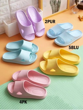 Solid Color Thick & Soft Sole Women's Sandals (6pair)