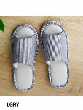 Unisex Open Toe Stripes Print Non-Slip Indoor Slippers