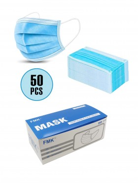 Disposable 3-Ply Face Masks (50 pcs)