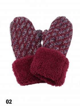 Fashion Knitted Gloves W/ Pom Pom (Gloves Only)