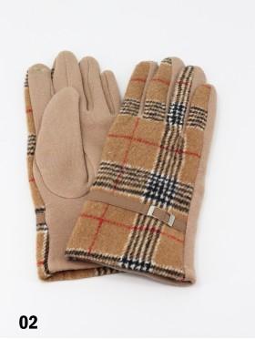 Plaid Touch Screen Glove W/ Belt
