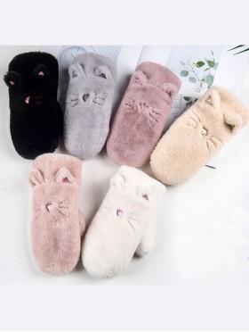 Kids Cute Cat Ears Winter Glove (Plush Inside)