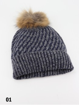 Fashion Knitted Hat W/ Pom Pom (Hat Only)