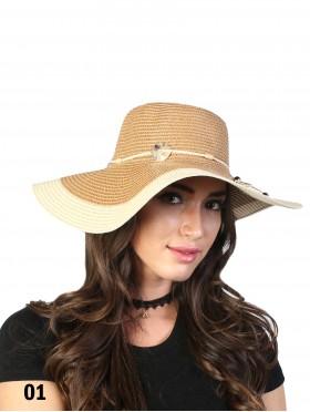 Summer Two Tone Floppy Straw Hat