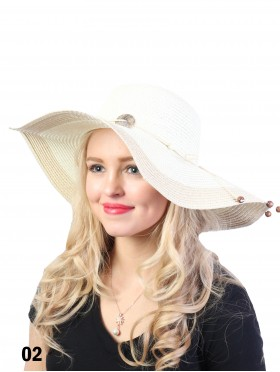 Summer Two Tone Floppy Straw Hat