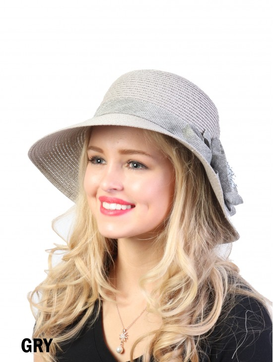 Summer Straw Hat W/ Flower