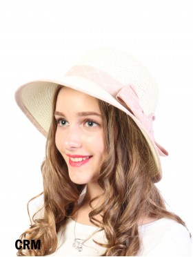 Summer Straw Hat W/ Ribbon Bow