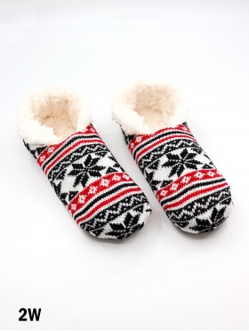 Snowflakes Pattern Indoors Anti-Skid Winter Slipper Socks