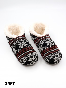 Snowflakes Pattern Indoors Anti-Skid Winter Slipper Socks