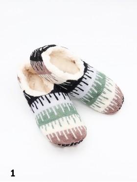 Water Ripple Patterned Indoors Anti-Skid Winter Slipper Socks