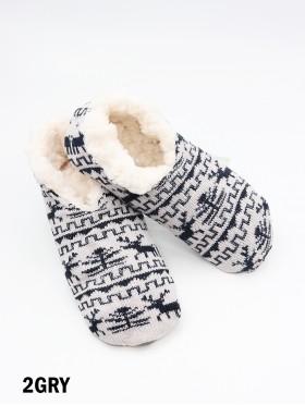 Reindeer Patterned Indoors Anti-Skid Winter Slipper Socks