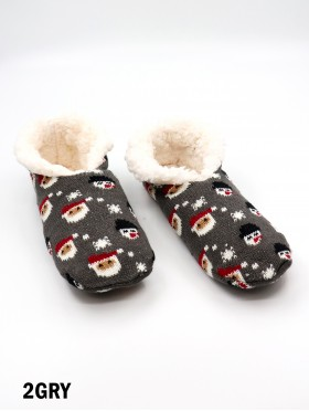 Santa & Snowman Indoors Anti-Skid Slipper Socks