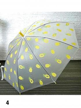 Matte Clear Pineapple Pattern Manual Umbrella