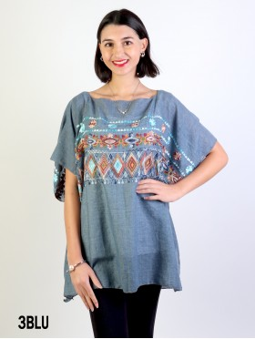 Tribal Print Fashion Flowy Top