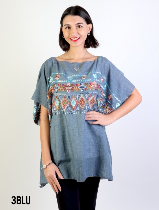 Tribal Print Fashion Flowy Top