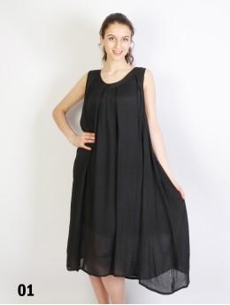 Layered Sleeveless Shift Dress