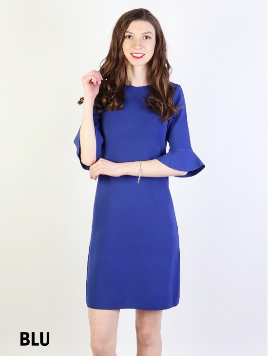Classic High End Stretchy Bell Sleeved Knit Dress