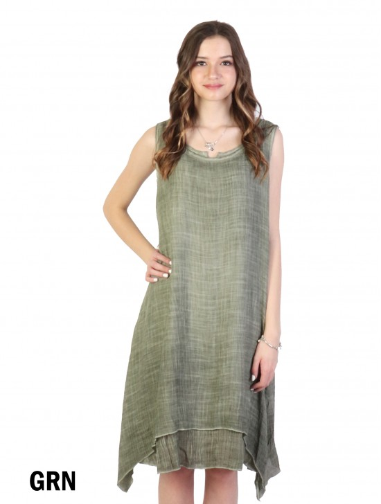 Layered Solid Shift Dress