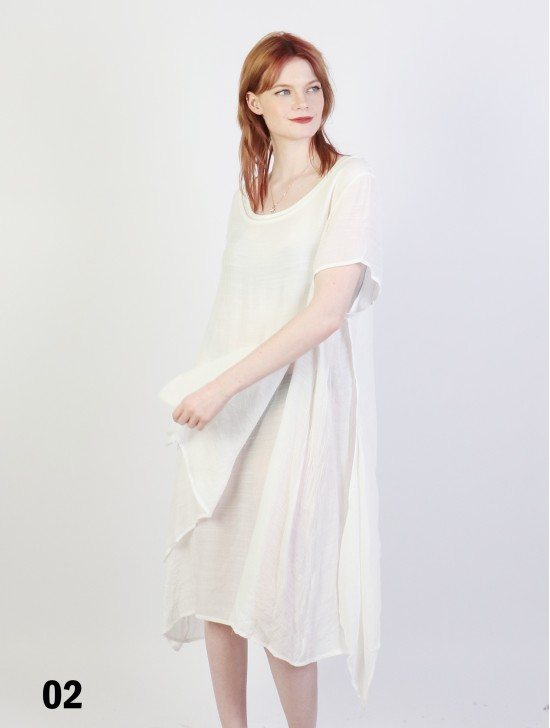 Short Sleeved Layered Dress