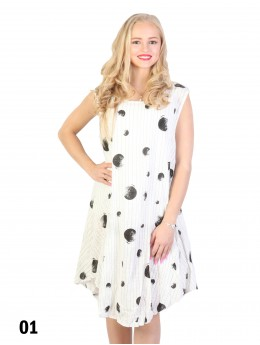 Fashion Dress With Dots Printed