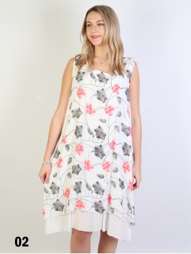 Blossom Print Flowy Button Shoulder Top
