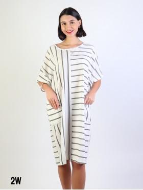 Asymmetrical Shift Dress W/ Pockets