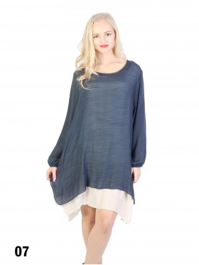 Layered Long Sleeve Shift Dress