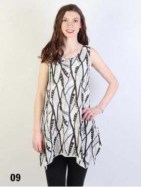 Branch Print Fashion Tops