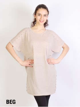 Sparkle Lurex Top W/ Side Details