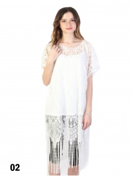 Loose Lace Top W/ Fringe