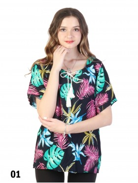Tropical Leaves Fashion Top