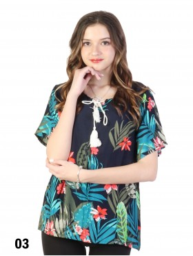 Tropical Print  Fashion Top