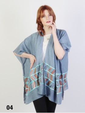 Abstract Embroidery Kimono
