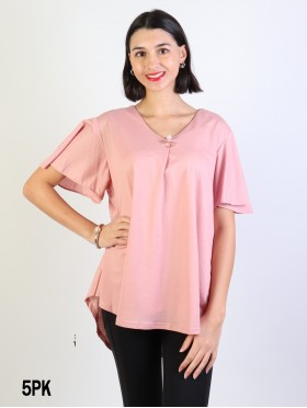 Fashion Blouse W/ Pearl Pin