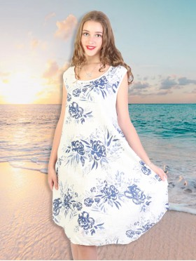Fashion Dress With Flower Printed