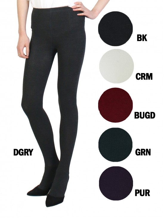 Full Length Footed Solid Stretch Legging