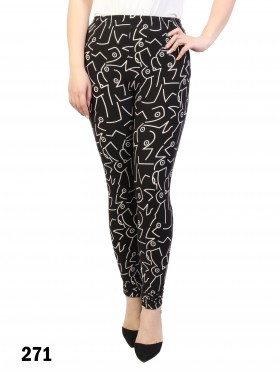 Abstract Print Stretchy Legging