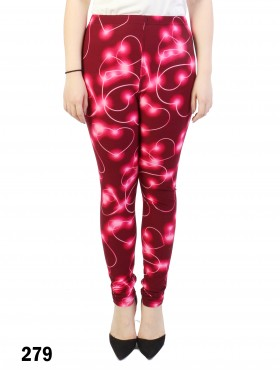 Neon Hearts Print Stretchy Legging