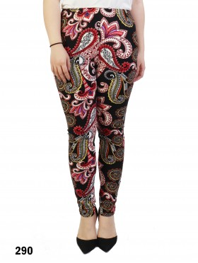 Plus Size Paisley Print Stretchy Leggings