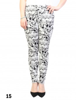 New Material Stretchy Fleece Lined Skull Print High-Waist Leggings