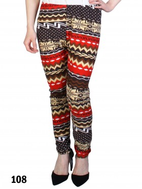 Plus Size Tribal Print Stretchy Leggings