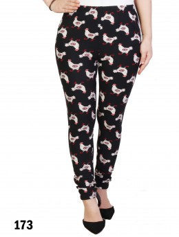Plus Size Chicken Pattern Stretchy Legging
