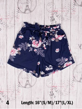 Floral Shorts w/ Front Tie