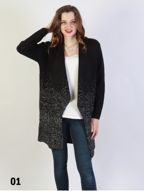 Sparkle Lurex Fashion Outerwear w/ Collar
