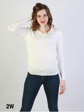 V-Neck Soft Long Sleeves Sweater