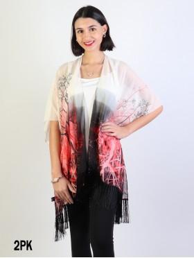 Chiffon Kimono W/ Branches