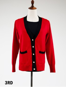 Elegant Cardigan with Gold Buttons