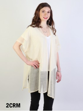 Soft Loose- Fitting Crochet Kimono